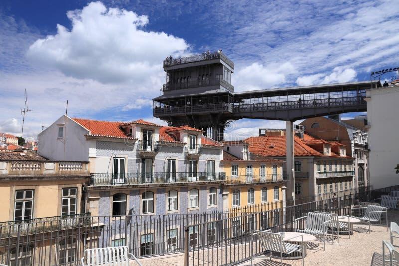Santa Justa lift. Lisbon city in Portugal. Santa Justa lift royalty free stock photos