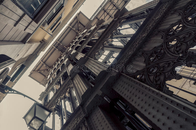 Santa Justa Lift in Lisbon stock photos