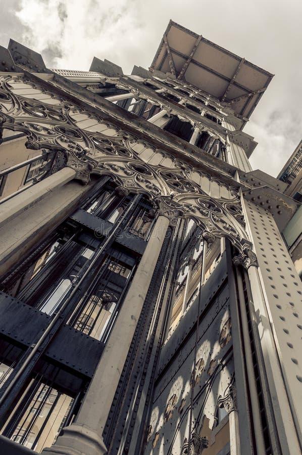 Santa Justa Lift in Lisbon royalty free stock photos
