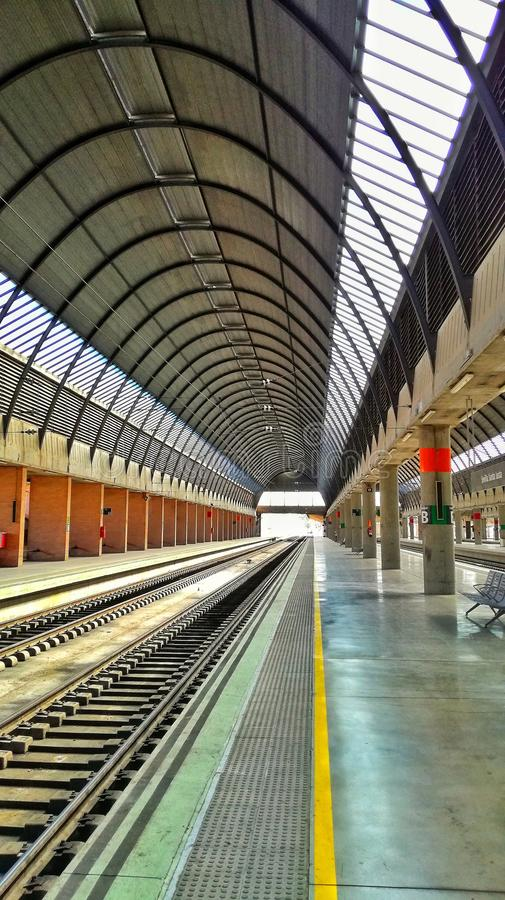 Santa justa seville train station. Santa Justa train station ubicated in Sevilla - Spain stock photography