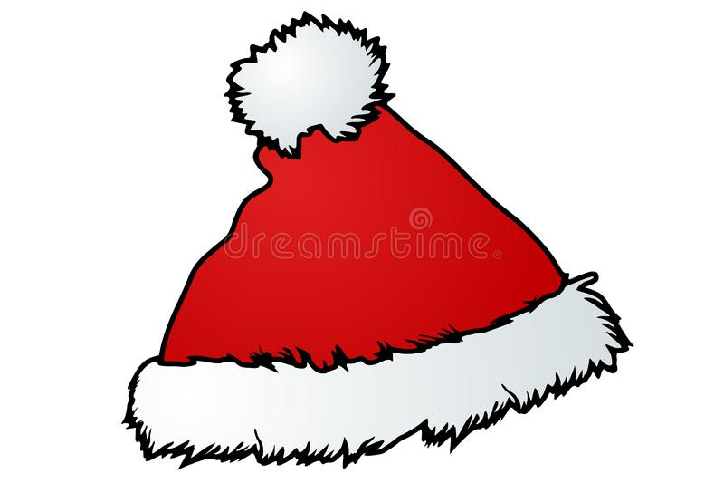 Santa kapelusz fotografia royalty free