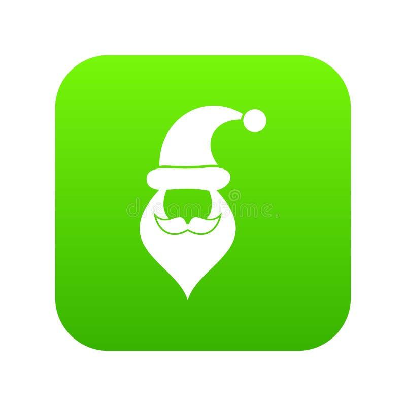 Santa kapelusz, wąsy i broda, prosty styl ilustracji