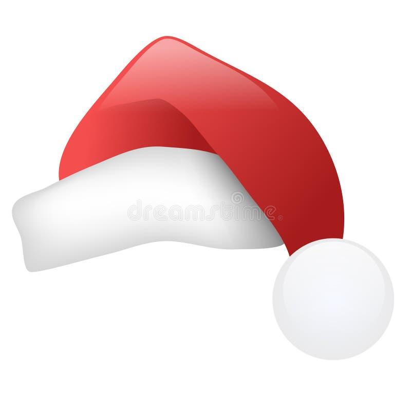 Santa kapelusza royalty ilustracja
