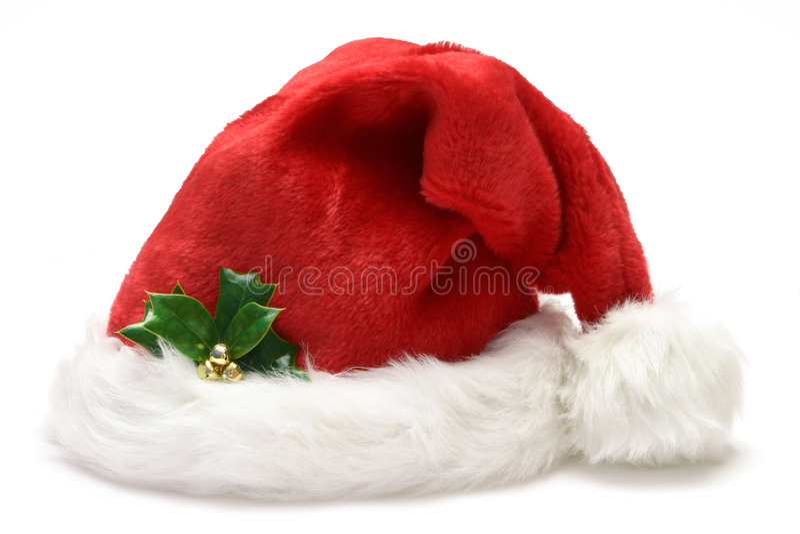 Santa kapelusza obraz royalty free