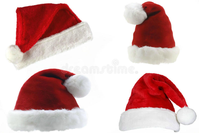 Santa kapelusze fotografia stock