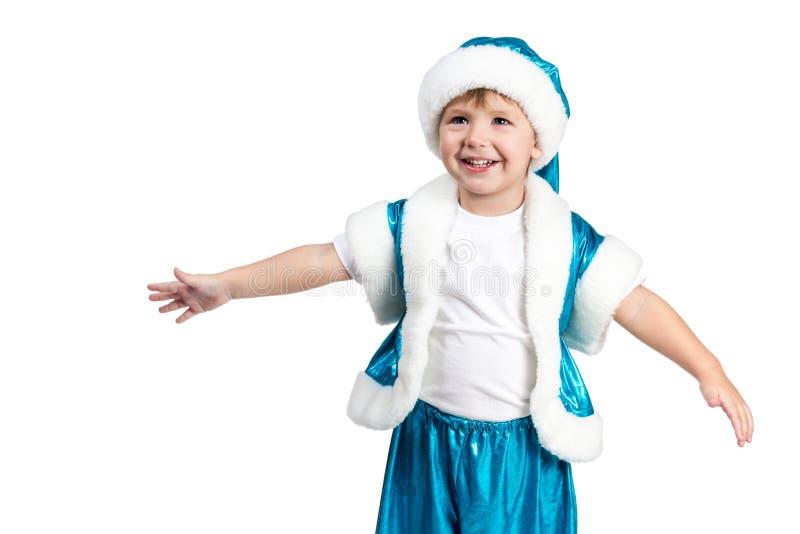 Santa Kid quer abraçá-lo imagens de stock royalty free