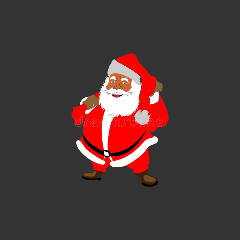 Santa-Klaus no vetor está feliz foto de stock