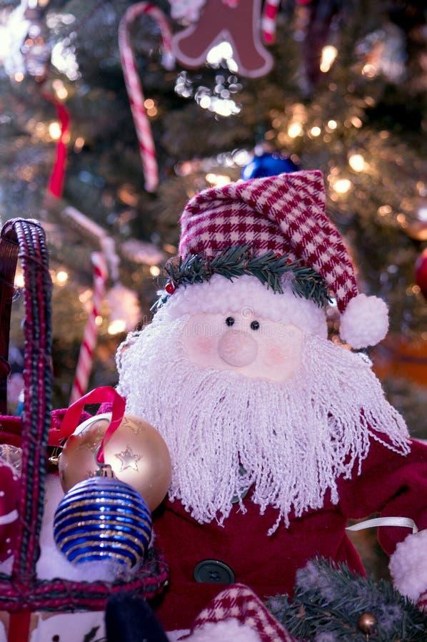 Santa-Klausel-Puppe-Portrait lizenzfreie stockfotografie