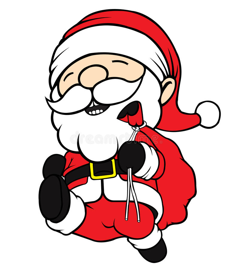 Santa klauzula bieg obrazy royalty free