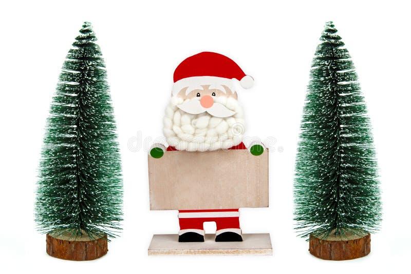 Santa klauzula chwyt pusta deska obrazy royalty free