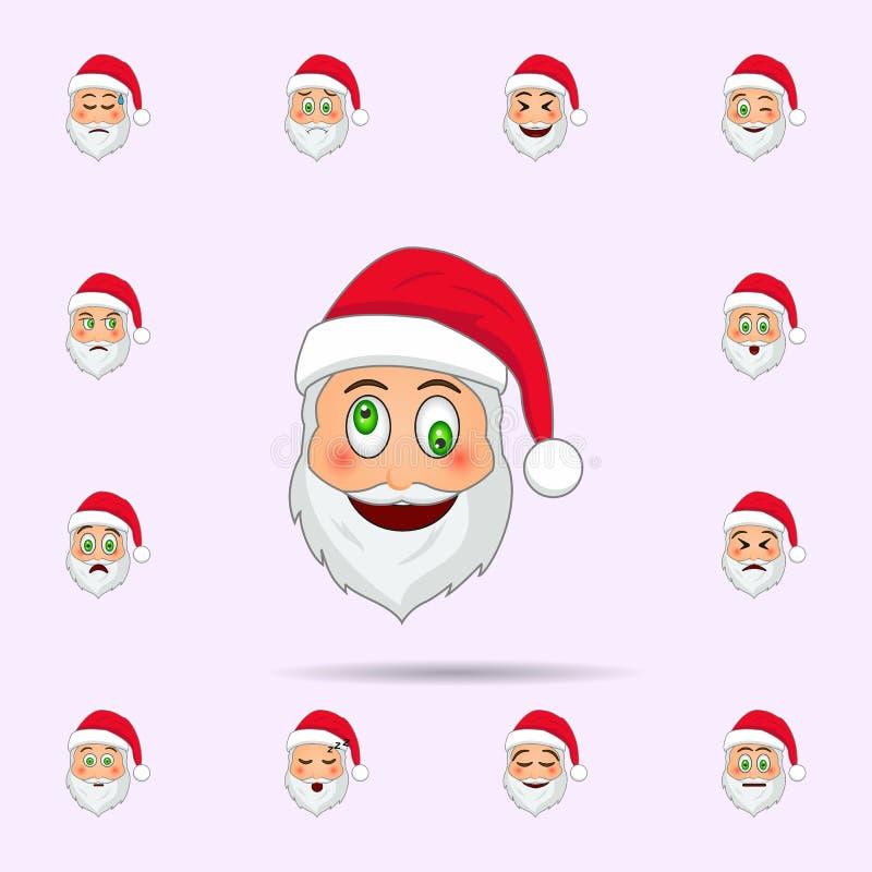Santa klauzula w dokuczania emoji ikonie Santa Claus Emoji ikon og?lnoludzki ustawiaj?cy dla sieci i wisz?cej ozdoby ilustracja wektor