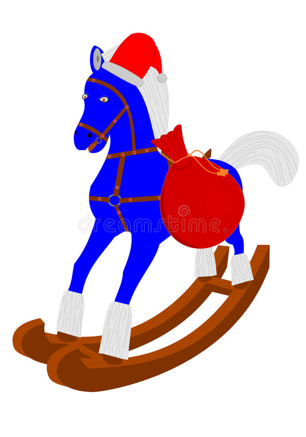 Santa koń zdjęcia royalty free