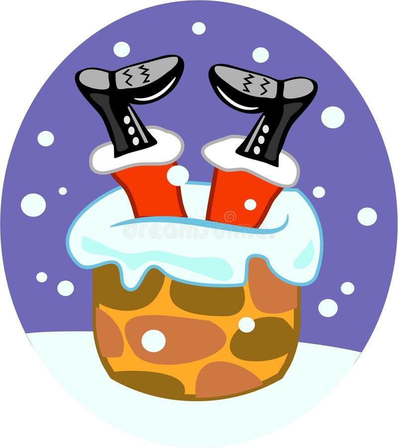 Santa kominowy ilustracji