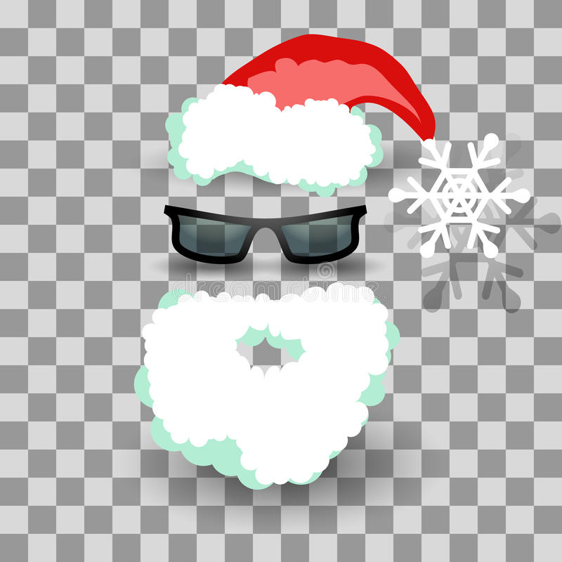 Santa kostium na przejrzystym ilustracji