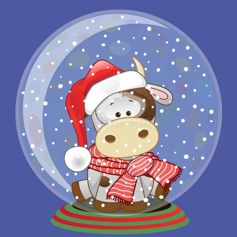 Santa krowa royalty ilustracja