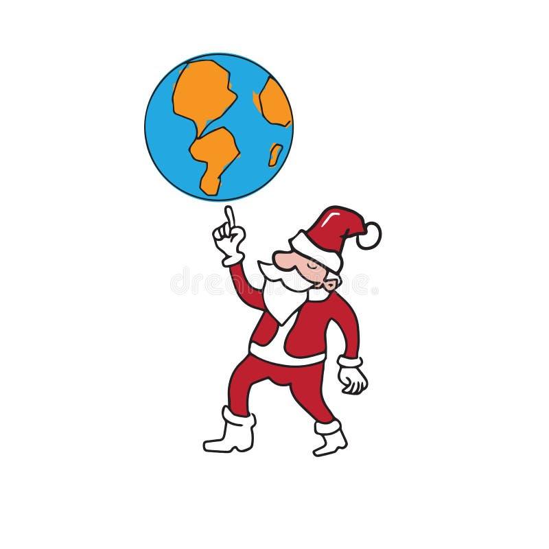 Santa kula ziemska ilustracja wektor