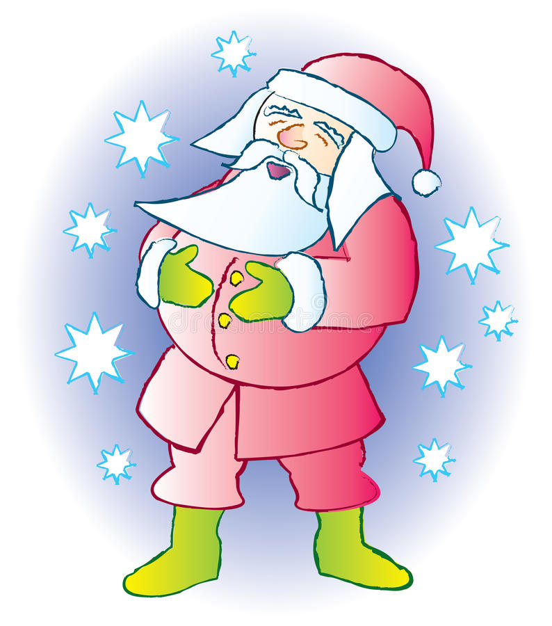 Download Santa Laughing stock vector. Image of christmas, jovial - 17376332