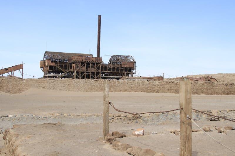 Santa Laura Humberstone-de installatie van de salpeterverwerking, Iquique, Chi stock foto's
