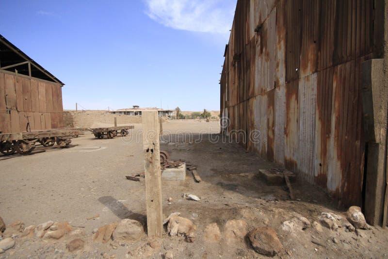 Santa Laura Humberstone-de installatie van de salpeterverwerking, Iquique, Chi stock fotografie