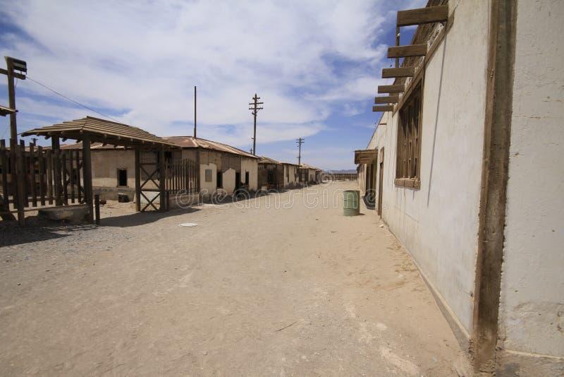 Santa Laura Humberstone-de installatie van de salpeterverwerking, Iquique, Chi stock foto