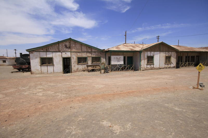 Santa Laura Humberstone-de installatie van de salpeterverwerking, Iquique, Chi royalty-vrije stock fotografie