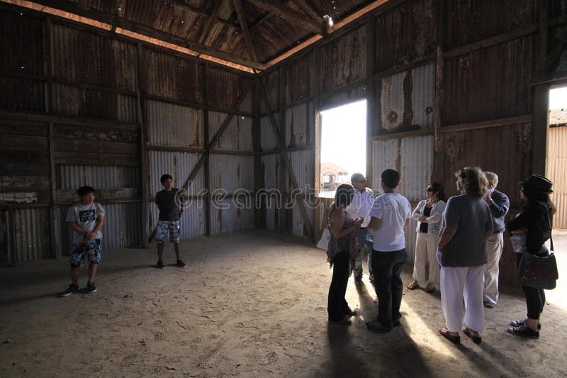 Santa Laura Humberstone-de installatie van de salpeterverwerking, Iquique, Chili stock foto's