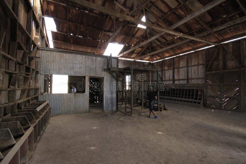 Santa Laura Humberstone-de installatie van de salpeterverwerking, Iquique, Chili stock foto