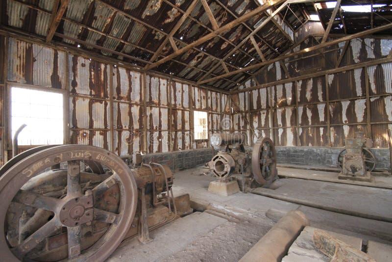 Santa Laura Humberstone-de installatie van de salpeterverwerking, Iquique, Chili royalty-vrije stock fotografie