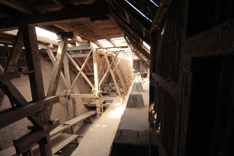 Santa Laura Humberstone-de installatie van de salpeterverwerking, Iquique, Chili stock fotografie