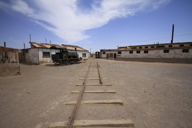 Santa Laura Humberstone-de installatie van de salpeterverwerking, Iquique, Chili stock afbeelding