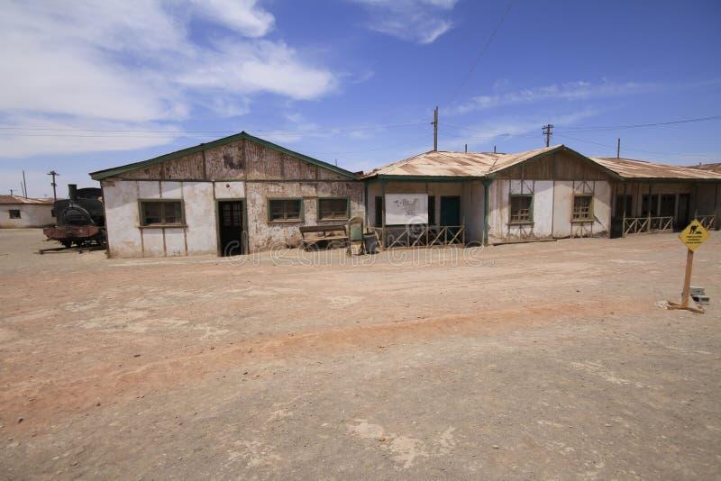 Santa Laura Humberstone-de installatie van de salpeterverwerking, Iquique, Chili royalty-vrije stock afbeelding