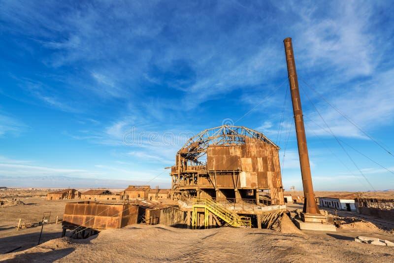 Santa Laura Saltpeter Refinery stock photography