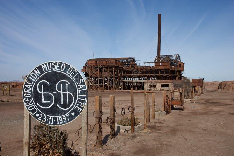 Santa Laura Saltpeter Works stock foto's
