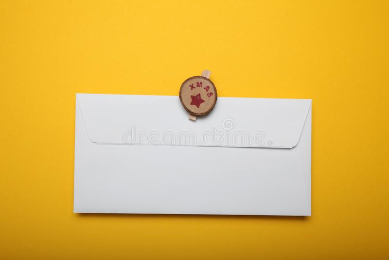 Santa letter, christmas background. Winter wish list.  royalty free stock photos