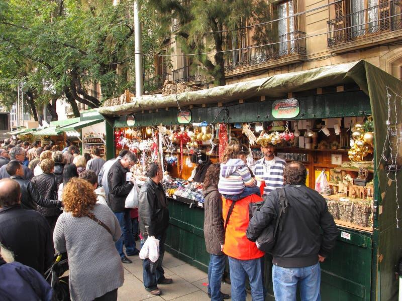 santa llucia φεστιβάλ της Βαρκελών&et στοκ φωτογραφία