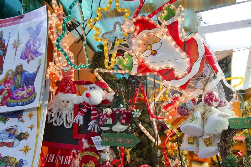 Santa Llucia Christmas Fair, Barcelona foto de stock