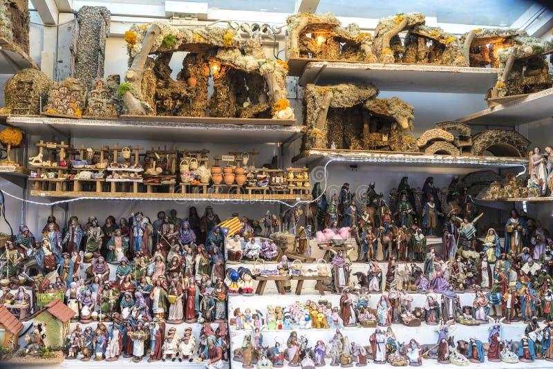 Santa Llucia Fair, Barcelona foto de stock royalty free
