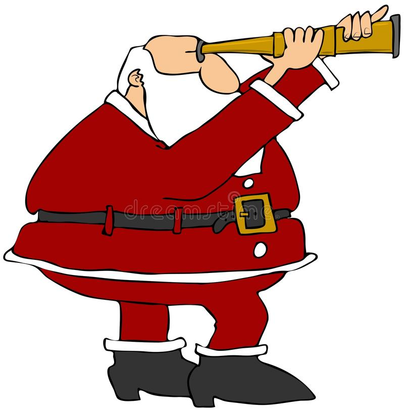 Download Santa Looking Through A Scope Stock Illustration - Image: 22387493