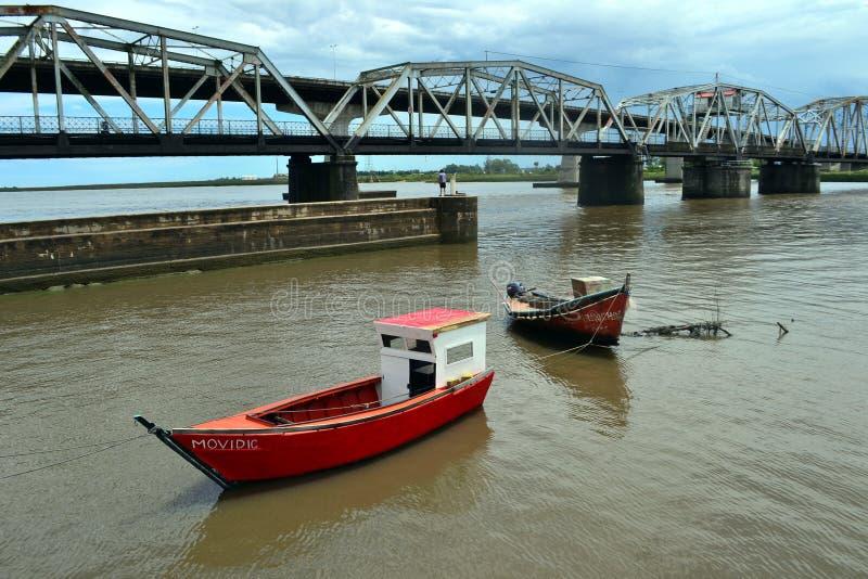 Santa Lucia-Brücke, Montevideo, Uruguay lizenzfreie stockfotografie