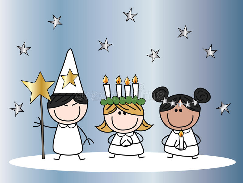 Santa lucia christmas tradition vector illustration