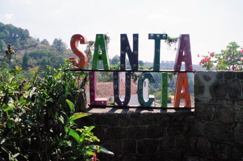 Santa Lucia Francisco Morazan Honduras sztandar zdjęcie royalty free