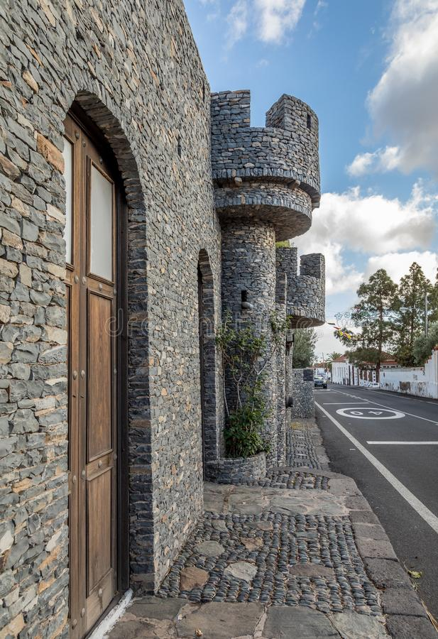 Santa Lucia Gran Canaria i Spanien - December 13, 2017: Castillo de la Fortaleza, privat museum royaltyfri foto