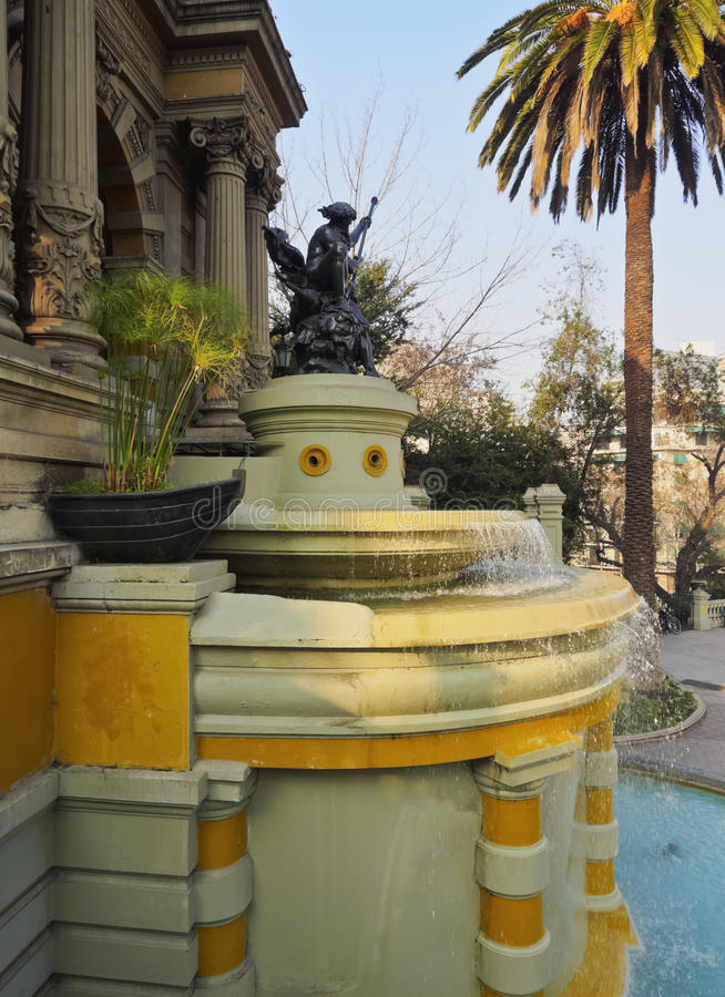 Santa Lucia Hill en Santiago de Chile image stock