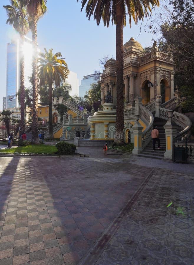 Santa Lucia Hill en Santiago de Chile photo stock