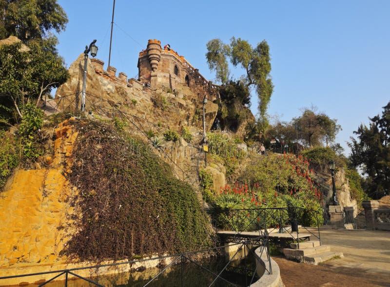 Santa Lucia Hill i Santiago de Chile fotografering för bildbyråer
