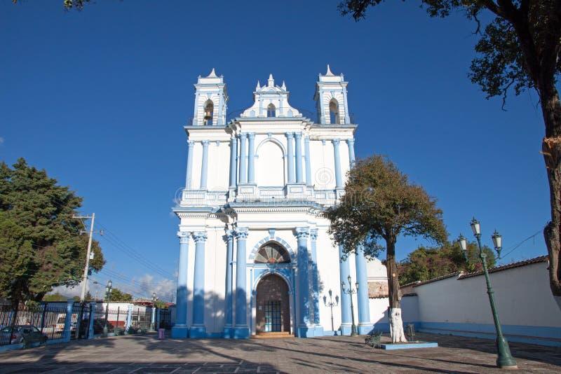 Santa Lucia kyrka i San Cristobal de Las Casas, Chiapas, Mexic royaltyfri foto