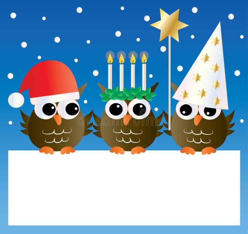 Santa lucia swedish christmas tradition stock illustration