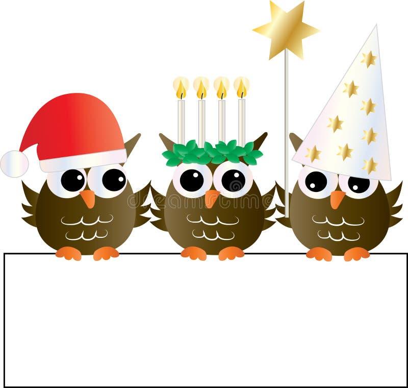 Santa lucia swedish christmas tradition vector illustration