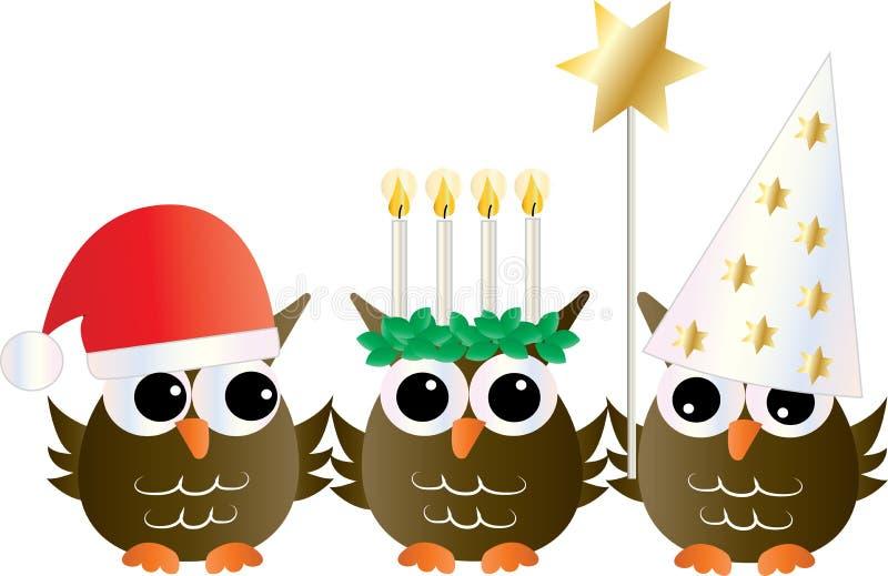 Santa Lucia Swedish Italian christmas tradition vector illustration