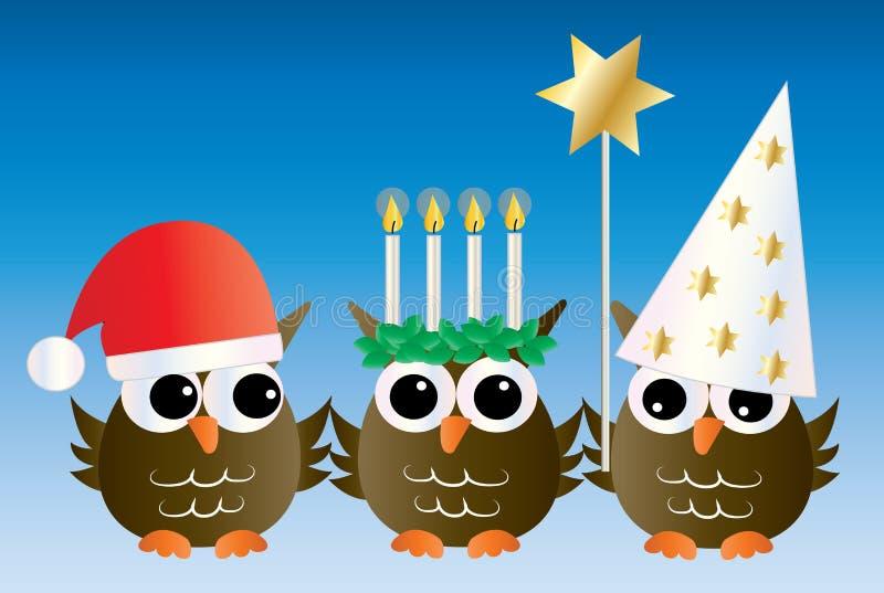 Santa Lucia Swedish Italian christmas tradition stock illustration